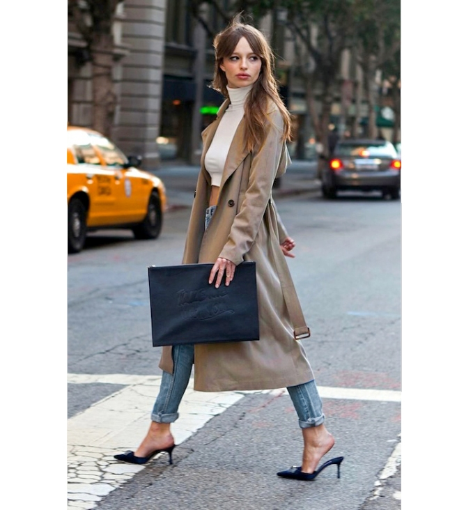 Le-Fashion-Blog-Modern-Francoise-Hardy-Trench-Coat-Distressed-Denim-Tereza-Kacerova-By-Felisha-Tolentino-2