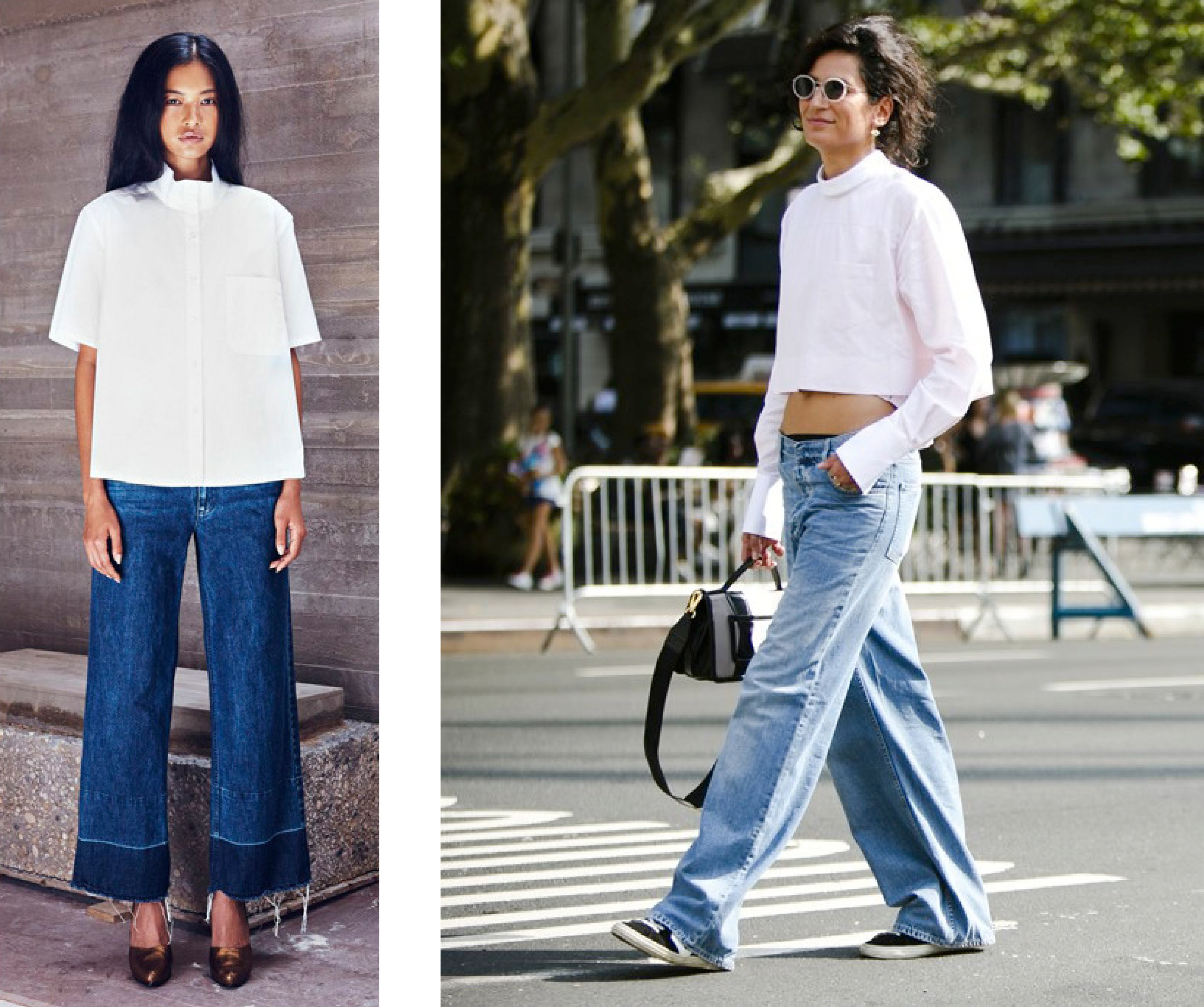 wide leg jeans | The Pack